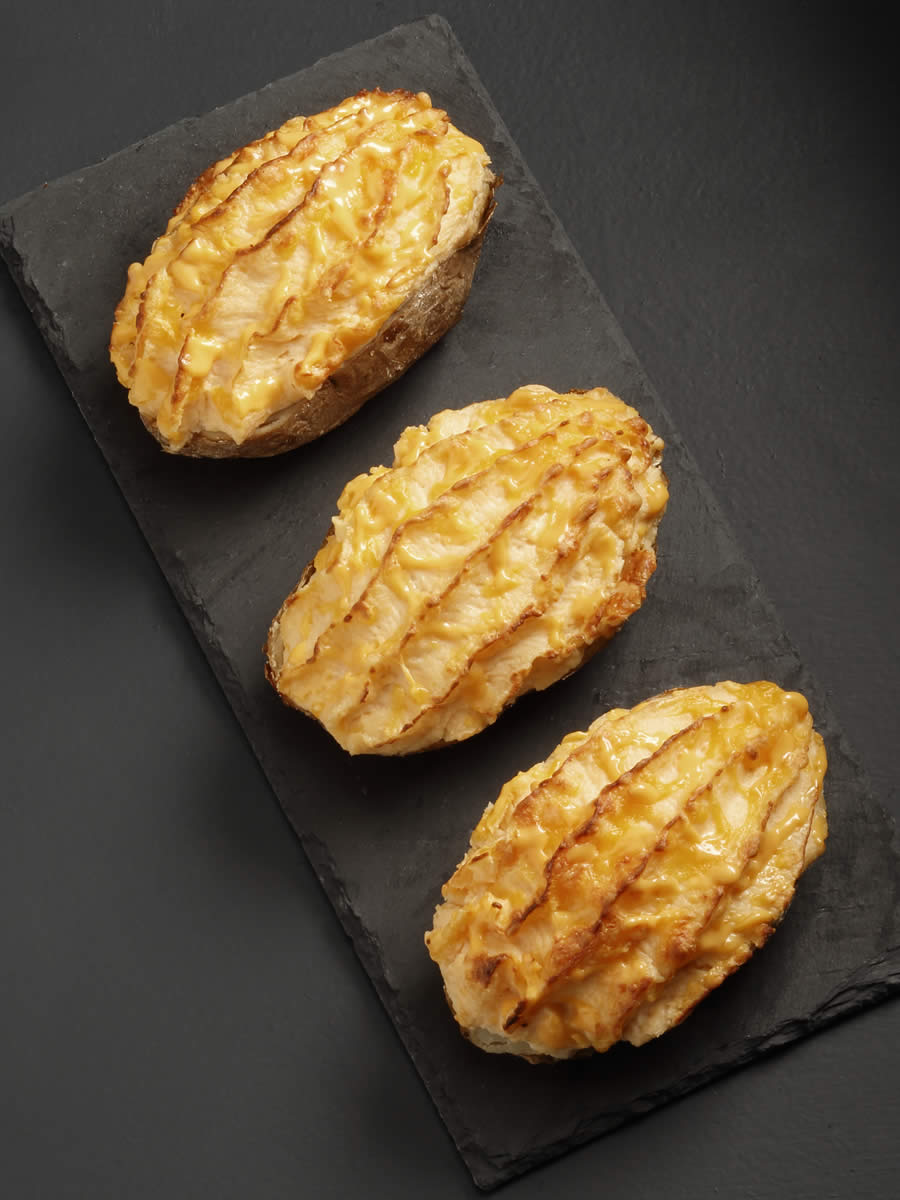 Twice Baked Potatoes Cheddar