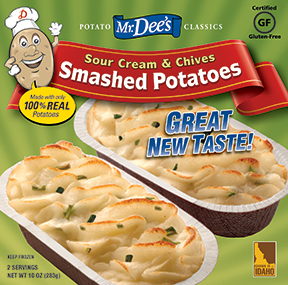 Sour Cream & Chives Smashed Potatoes - Mr. Dee'sMr. Dee's